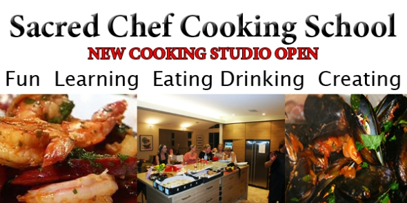 Sacred Chef cooking school on the sunshine coast